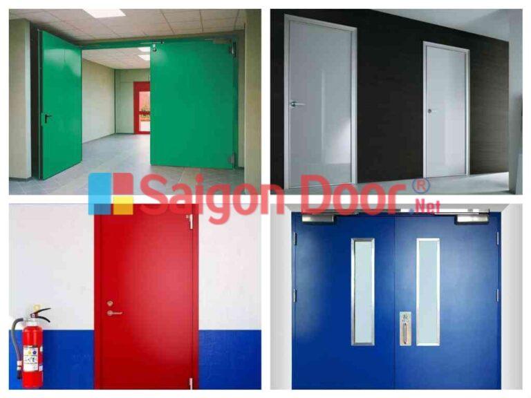 Các mẫu cửa thoát hiểm được trưng bày tại Sài Gòn Door